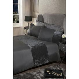 image-Cavallaro Duvet Cover Set Rosdorf Park Colour: Charcoal, Bed Size: Single