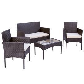image-Fien 4 Seater Rattan Conversation Set