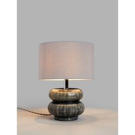 image-John Lewis & Partners Alp Ceramic Table Lamp, Grey