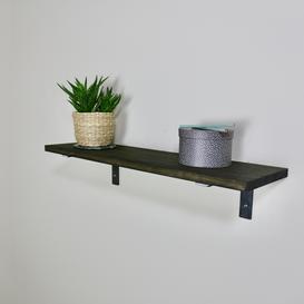 image-ZIITO H1 - Wood shelf with steel bracket below shelf