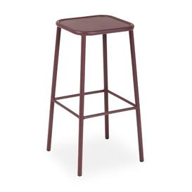 image-Shel 72cm Bar Stool Sol 72 Outdoor Colour: Bordeaux