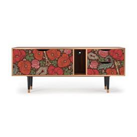 "image-Yokley TV Stand for TVs up to 70\"" Ebern Designs Pattern: Poppy Garden"