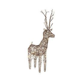 image-Lumineo LED Wicker Deer 104cm Outdoor Light - Warm White