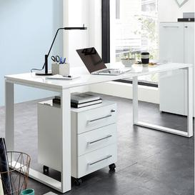 image-2 Piece Office Set Symple Stuff Colour: Navarre oak/White