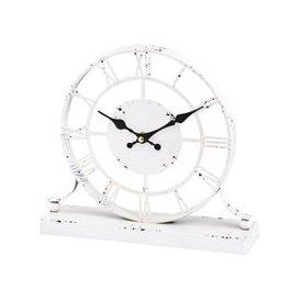image-Amesbury Skeleton Mantel Clock in Antique Cream