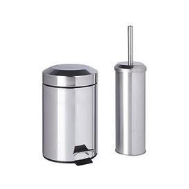 image-Sabichi Bathroom Bin And Brush Set