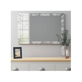 image-Cow Parsley Over Mantle Mirror 60x90cm Silver
