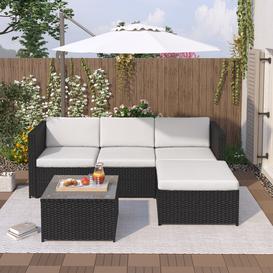 image-Biana 3 Seater Rattan Sofa Set