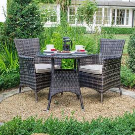 image-Nova Garden Furniture Amelia Brown Weave 2 Seat Bistro Set