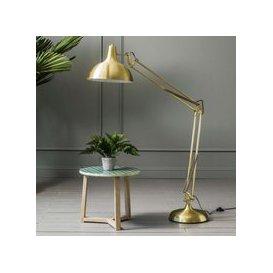 image-Oversized Brass Angle Floor Lamp