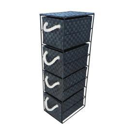 image-4 Drawer Storage Utility Cart House of Hampton Colour: Black