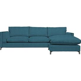 image-Sturminster Chaise Sleeper Corner Sofa Bed Canora Grey Upholstery Colour: Teal, Orientation: Right Hand Facing