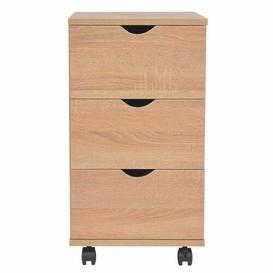 image-Danita 3 Drawer Filing Cabinet Bloomsbury Market Colour: Oak