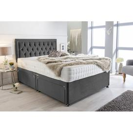image-McMullen Plush Velvet Bumper Divan Bed Willa Arlo Interiors Size: Super King (6'), Storage Type: 2 Drawers Same Side