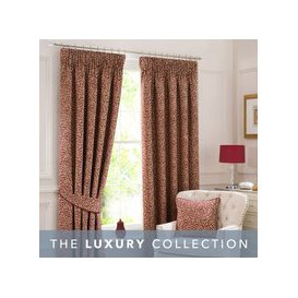 image-Willow Red Pencil Pleat Curtains Red