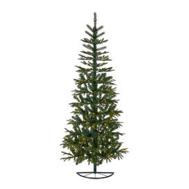 image-Granlund 6.9ft Green Pine Artificial Christmas Tree with 120 Clear/White Lights with Stand Markslojd