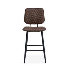 image-Austin Bar Stool Brown PU Leather Brown