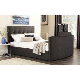 image-Langham Slate Grey Fabric King Size TV Bed