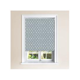 image-Agapanthus Twiglight Blackout Roller Blind Grey and White