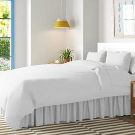 image-180 Thread Count Valance Wayfair BasicsΓäó Size: Single (3'), Colour: White