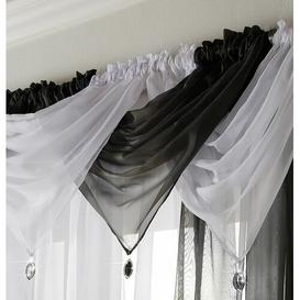 image-Avery 56cm Curtain Pelmet Willa Arlo Interiors Colour: Black