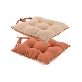 image-Solar Terracotta Reversible Seat Pad Terracotta