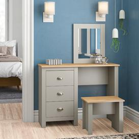 image-Loretta Dressing Table Set with Mirror Zipcode Design Colour: Grey