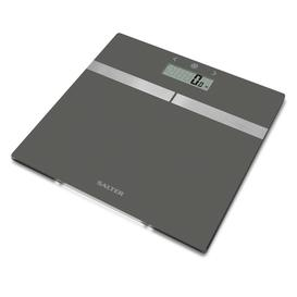 image-Salter Glass Analyser Bathroom Scale - Silver