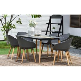 image-Ipanema Designer 6 Seater Dining Set by Lifestyle Garden