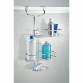 image-Linea Adjustable Over Door Shower Caddy InterDesign