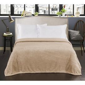 image-Huggard Blanket Ebern Designs Colour: Cappuccino, Size: W70 x L150cm