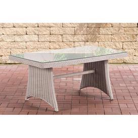 image-Iowa Rattan Dining Table Sol 72 Outdoor Table frame colour: Pearl