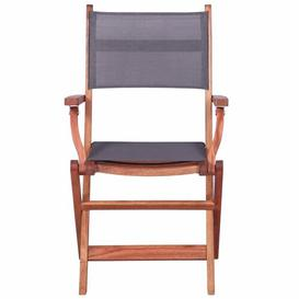 image-Berumen Folding Garden Chair Dakota Fields Colour: Grey