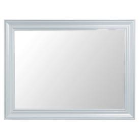 image-Buckley Large Wall Mirror with Oak Top Beachcrest Home Finish: Grey