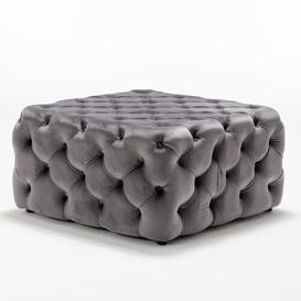 image-Madill Pouffe Canora Grey Upholstery Colour: Dark Grey