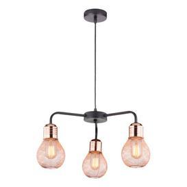 image-Chasteen 3-Light Shaded Chandelier Mercury Row
