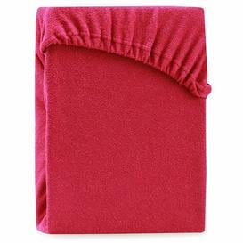 image-Hester 130 Thread Count Fitted Sheet Symple Stuff Size: Emperor (7'), Colour: Burgundy