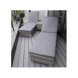 image-Harbo Verona Sunlounger Set with Side Table