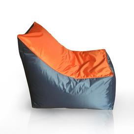 image-New Jazz Player Bean Bag Chair Ebern Designs Upholstery Colour: Orange/Grey