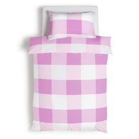 image-Habitat Kids Checked Pink Bedding Set - Single