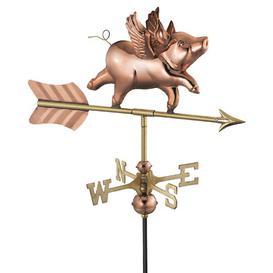 image-Caldicot Flying Pig Weathervane Sol 72 Outdoor