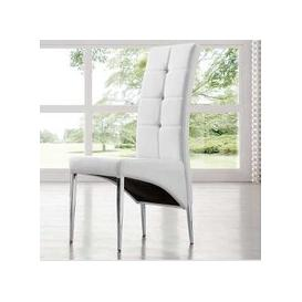 image-Vesta Studded Faux Leather Dining Room Chair in White