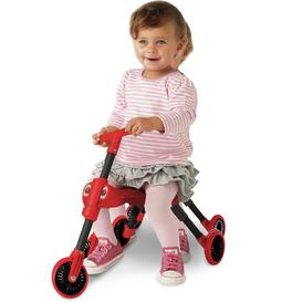 image-Scuttlebug Ladybird Ride On - Red and Black