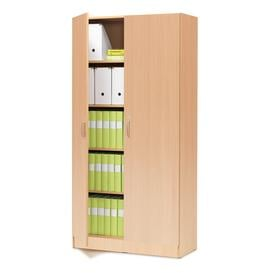 image-Lockable office cabinet CLEO, 2000x1000x310 mm, beech laminate