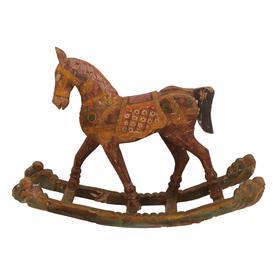 image-Vintage Hand Carved Rocking Horse