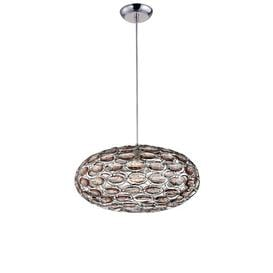 image-Litva Turner 1-Light Single Pendant Brayden Studio Finish: Smoke