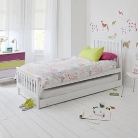 image-Millie Day Bed with Trundle Extra Sleepover Bed 2 in 1 in Classic Whit