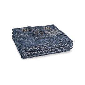 image-Single Blue Eyelet Curtain 140x250