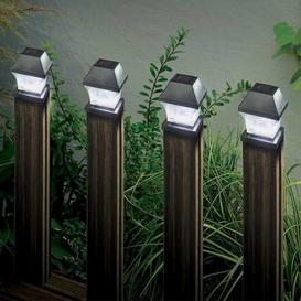 image-Smart Solar Post Light 4 pack - Black