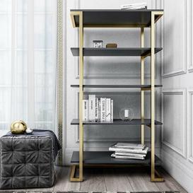 image-Camila Bookcase CosmoLiving by Cosmopolitan Colour: Graphite Grey